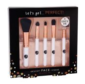 2K Let´s Get Perfect!  Pędzel do makijażu W 1 szt Powder Brush 1 pc + Lip Brush 1 pc + Applicator for Eye Shadow 1 pc + Eye Shadow Brush 1 pc + Eyebrows Brush 1 pc + Bag