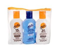 Malibu Lotion   Preparat do opalania ciała U 100 ml Mleczko do opalania SPF20 100 ml + Mleczko do opalania SPF15 100 ml + Mleczko po opalaniu 100 ml