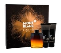 Montblanc Legend Night Woda perfumowana 100 ml + Balsam po goleniu 100 ml + Żel pod prysznic 100 ml