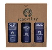 Renovality Original Series Argan Oil  Olejek do ciała W 100 ml Olejek do ciała 100 ml + Olejek do ciała Apricot Oil 100 ml + Serum Hyaluron Serum 50 ml