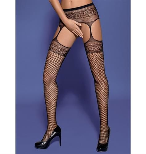 Garter stockings S502 czarne S/M/L